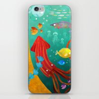 underwater iPhone & iPod Skins featuring Underwater by Brianne Burnell