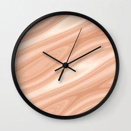 Cedar Wood Surface Texture Wall Clock