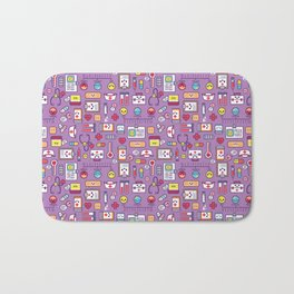 Proud To Be a Nurse Pattern / Purple Bath Mat
