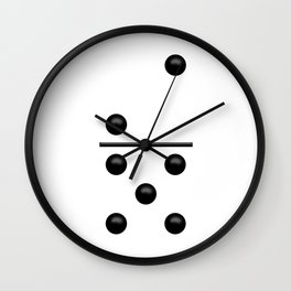 White Domino / Domino Blanco Wall Clock