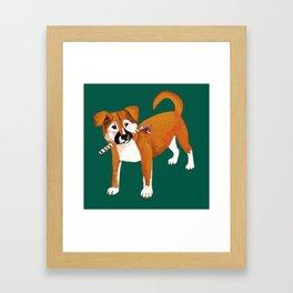 Puppy Chritsmas Framed Art Print
