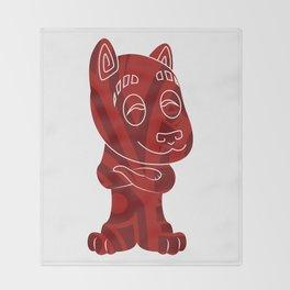 Tiki Dog Throw Blanket