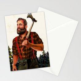 Rugged Lumberjack Illustration Stationery Cards