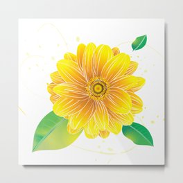 Helianthus - The Color of Vitality, Intelligence and Happiness Metal Print