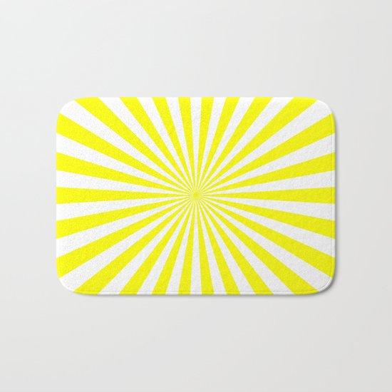 Starburst (Yellow/White) Bath Mat