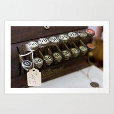 Cash Register Keys Art Print