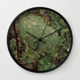 Backyard Flower #4 Wall Clock