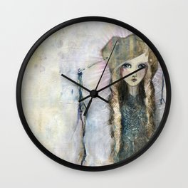 Gesso Geisha by Jane Davenport Wall Clock