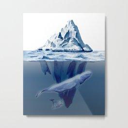 Belugas' Conversation Metal Print