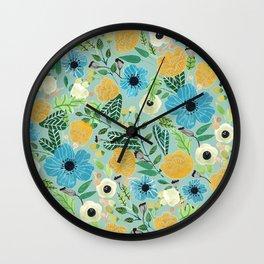 Luova - blue Wall Clock