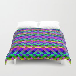 Rainbow Scaffolding Duvet Cover