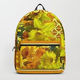 VIGNETTE OF YELLOW SPRING DAFFODILS GARDEN Backpack