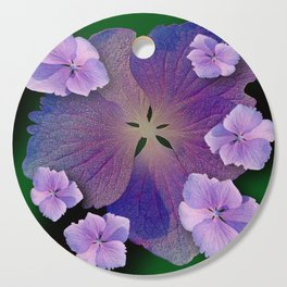 LACECAP HYDRANGEA FLOWER BOUQUET  Cutting Board