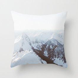 Snowy Mountains in Washington Throw Pillow