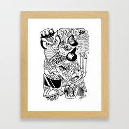 panic for love Framed Art Print