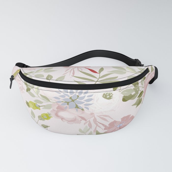 Watercolour Flower Pattern Fanny Pack