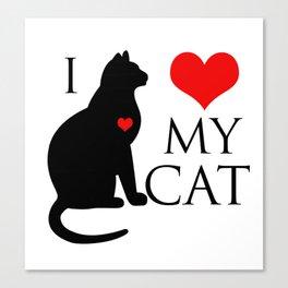 I love my cat Canvas Print