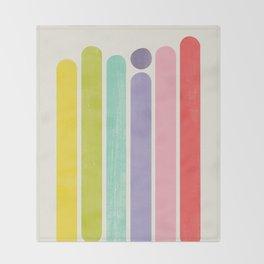 Rainbow Color Stripes Throw Blanket