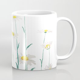 white daisy watercolor horizontal Coffee Mug