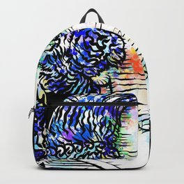BLAISE PASCAL watercolor and ink portrait Backpack