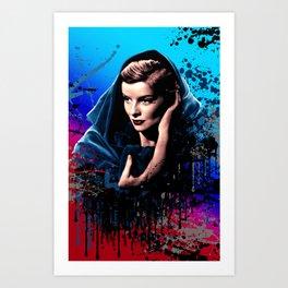 Katharine Hepburn, 60 years of drama. Art Print