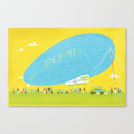 Graph Zeppelin Canvas Print