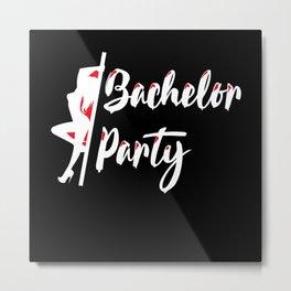 bachelor party masks, bachelor, bride Metal Print
