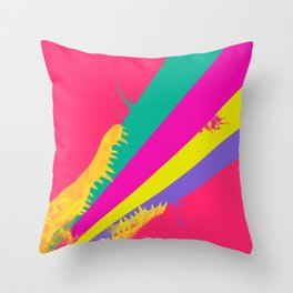 crococolors Throw Pillow