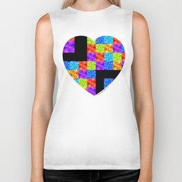 Love Colors The Heart by Sharon Cummings Biker Tank