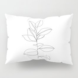 One line plant illustration - Dany Pillow Sham