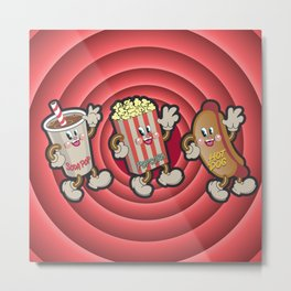 Movie Time Treats Metal Print