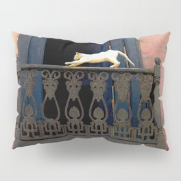 Cat in the Balcony Pillow Sham