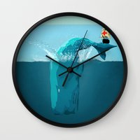 moby Wall Clocks featuring moby  by mark ashkenazi