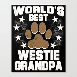World's Best Westie Grandpa Canvas Print