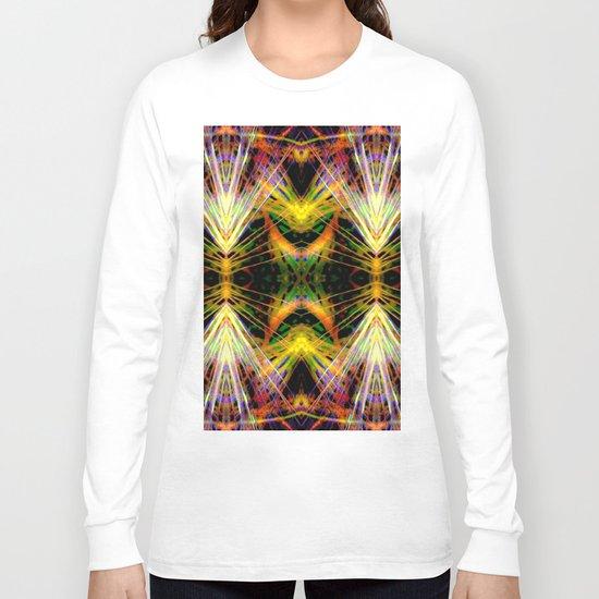 Yellow Bright Rays,Fractal Art Long Sleeve T-shirt