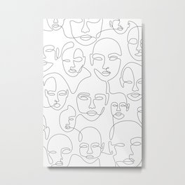 Subtle Faces Metal Print