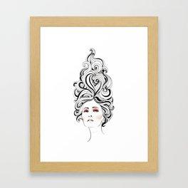 Swirl Girl Art Print Framed Art Print