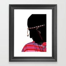 Maasai Man Framed Art Print