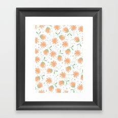 Autumn flora pattern Framed Art Print