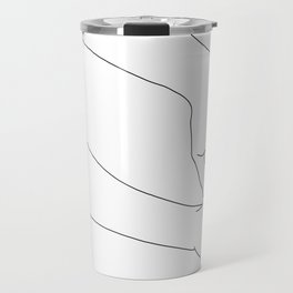 Hands line drawing illustration - Esther Travel Mug