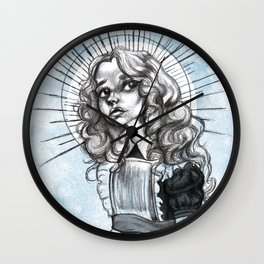 Young Alice Wall Clock