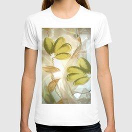 textile / flower / green  T-shirt