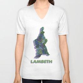 Lambeth - London Boroughs - Colour Unisex V-Neck