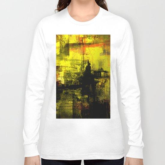 Sail Away - Abstract painting of a boat sailing into the horizon Long Sleeve T-shirt