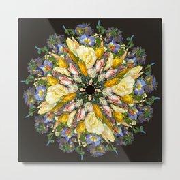 Flemish Floral Mandala 5 Metal Print