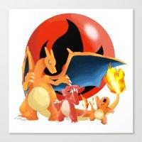 Spit Fires Canvas Print