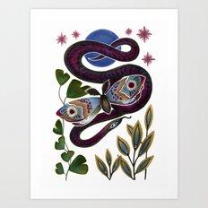 Moth & Snake Art Print