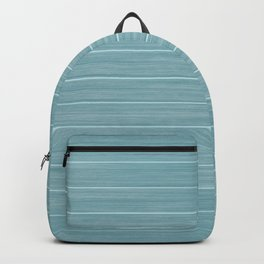 Island Paradise Blue Weathered Whitewash Wooden Beach House Backpack