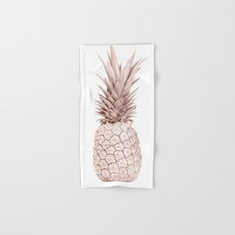 Pineapple Rose Gold Hand & Bath Towel