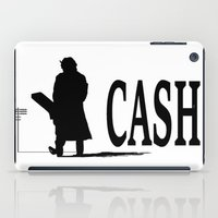 johnny cash iPad Cases featuring CASH by shannon's art space